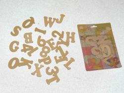 Dekorační zboží dřevěné samolepící - abeceda a číslice
