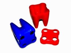Stojánek na zubní kartáčky Barva červená